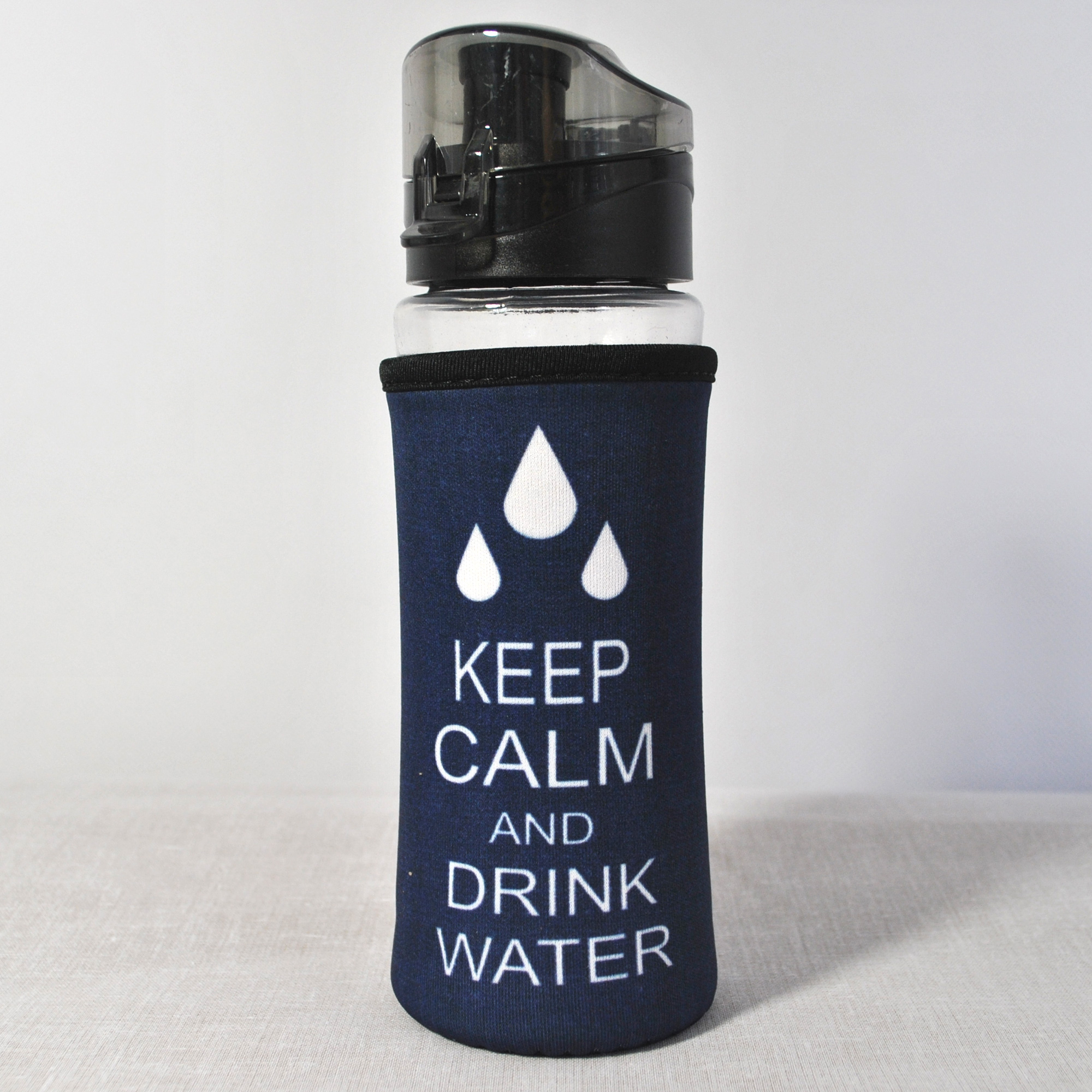 glas trinkflasche mit schraubverschluss keep calm 380ml. Black Bedroom Furniture Sets. Home Design Ideas